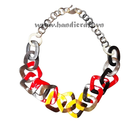 Horn & lacquer necklace