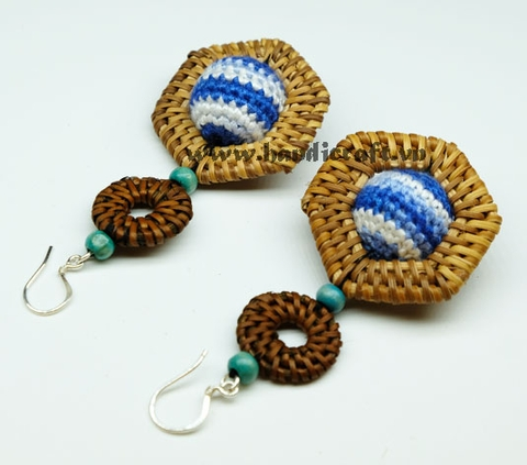 Natural Rattan Earrings