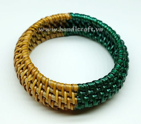 Rattan bracelet with half painting