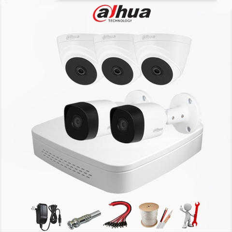 Trọn bộ 5 Camera Dahua – Analog Gold 2MP Full HD 1080P – DH2A