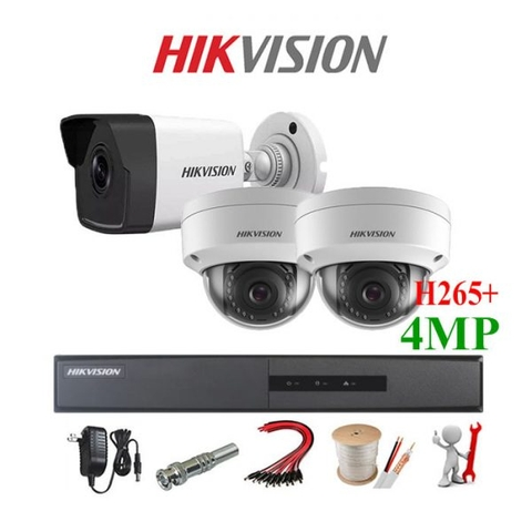TRỌN BỘ 3 CAMERA IP HIKVISION Dimond 4MP Full 2K