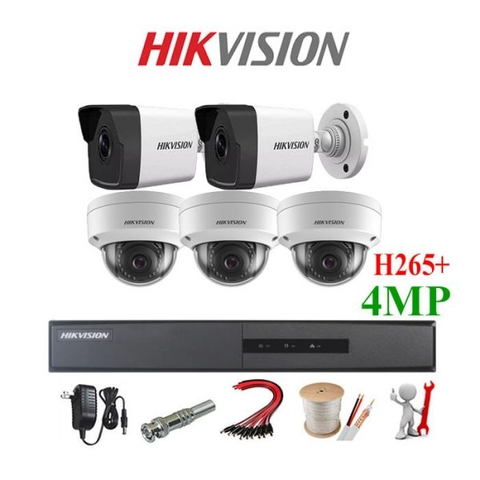 TRỌN BỘ 6 CAMERA IP HIKVISION Dimond 4MP Full 2K