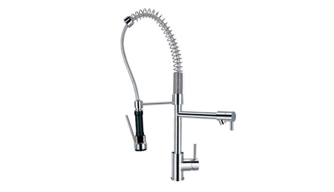 BF 827 892K SINGLE LEVER KITCHEN MIXER WITH SWIVEL SPOUT AND PULLOUT SPRAYHEAD