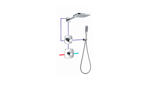 BF 980 350B - Thermostatic Concealed Shower