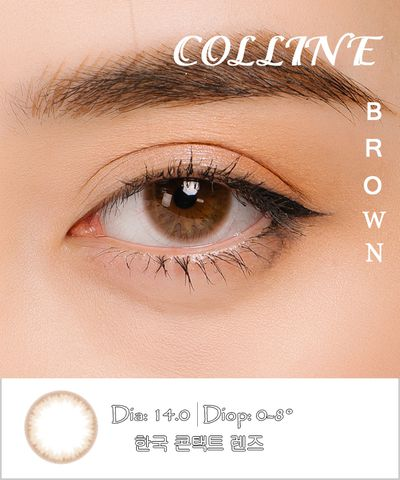 Kính áp tròng COLLINE BROWN nâu tự nhiên - Lens Hàn Quốc