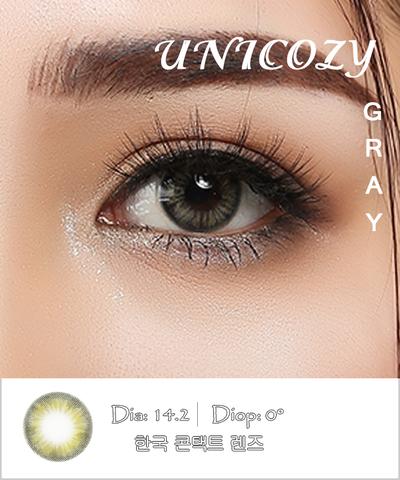 Kính áp tròng UNICOZY GRAY xám trầm - Lens mắt Hàn Quốc
