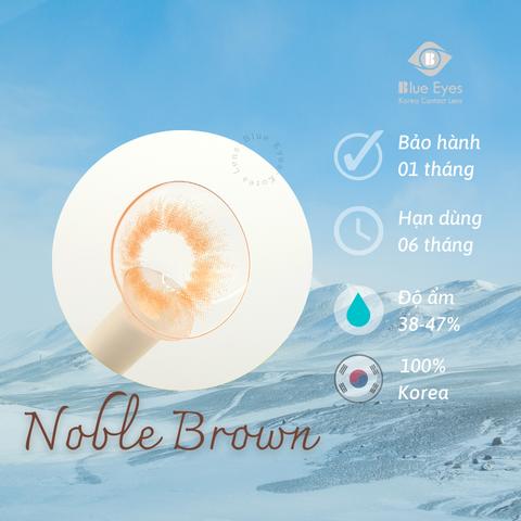 Kính áp tròng NOBLE BROWN nâu vàng sáng - Lens Hàn Quốc