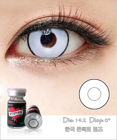 Lens Cosplay EyeTume - WHITE - màu trắng có viền