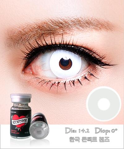 Lens Cosplay EyeTume - WHITE - màu trắng