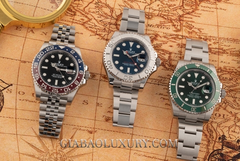 So sánh đồng hồ Rolex Yacht-Master 116622, Submariner Date