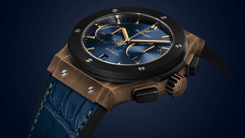 Review đồng hồ Hublot Classic Fusion Bronze Bucherer Blue Edition