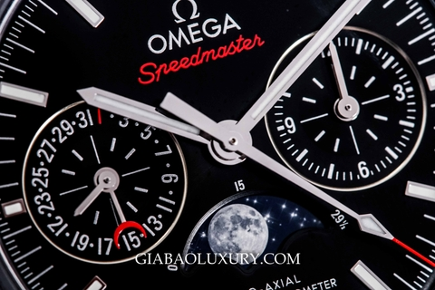 Review đồng hồ Omega Speedmaster Moonwatch Co-Axial Master Chronometer Moonphase Chronograph 44.25mm