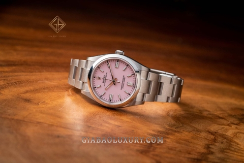 Review đồng hồ Rolex Oyster Perpetual 126000 Hồng Candy
