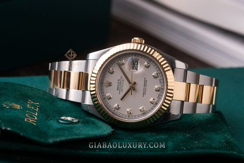 Review đồng hồ Rolex Datejust II 116333 Mặt Số Ivory