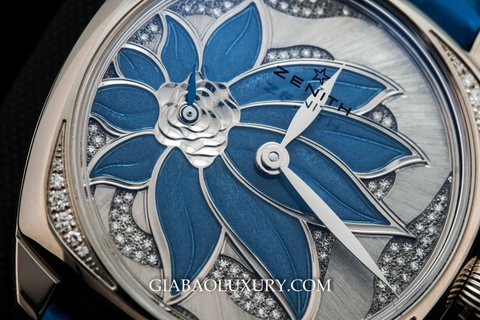 Review đồng hồ Zenith Star Blue Enameled Flower Dial