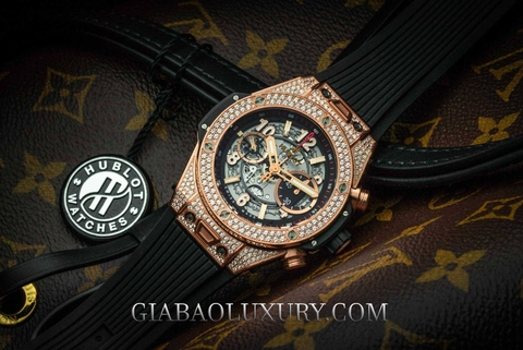 Review đồng hồ Hublot Big Bang Unico King Gold Pavé 45mm