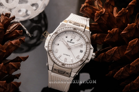 Review đồng hồ Hublot Big Bang One Click Steel White Diamonds