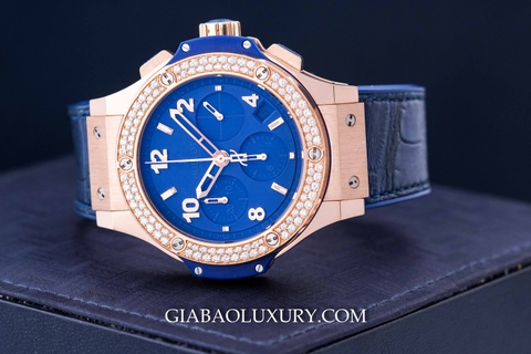 Review đồng hồ Hublot Big Bang Dark Blue Diamonds Gold 41