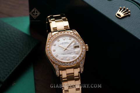 Review đồng hồ Rolex Pearlmaster 81158