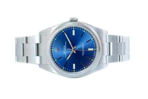 Đồng Hồ Rolex Oyster Perpetual 39 114300 Mặt Số Xanh