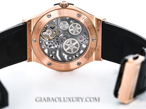 Đồng Hồ Hublot Classic Fusion Ultra-Thin Skeleton King Gold 42mm 545.OX.0180.LR