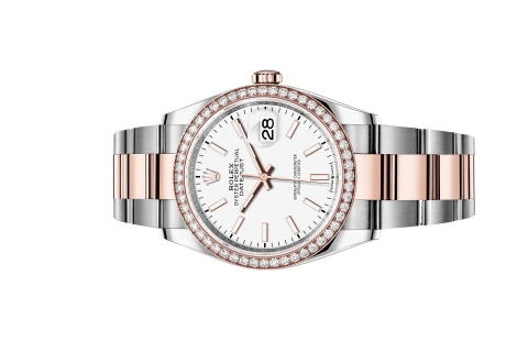 Đồng Hồ Rolex Datejust 36 126281RBR Mặt Số Trắng Dây Đeo Oyster
