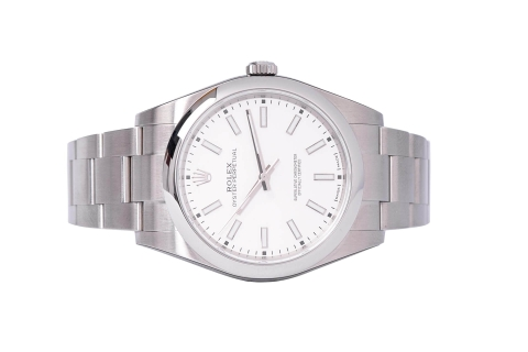 Đồng Hồ Rolex Oyster Perpetual 114300 Mặt Số Trắng