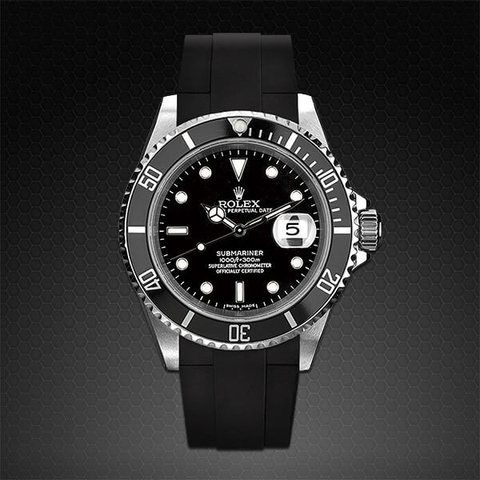Dây cao su Rubber B đồng hồ Rolex Submariner Ceramic - Tang Buckle Series