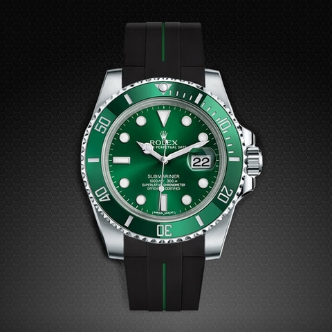 Dây cao su Rubber B đồng hồ Rolex Submariner Ceramic - Tang Buckle Series VulChromatic®