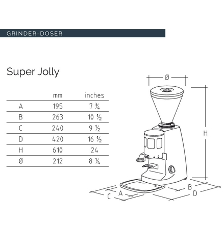 Máy Xay Cafe MAZZER SUPER JOLLY MANUAL