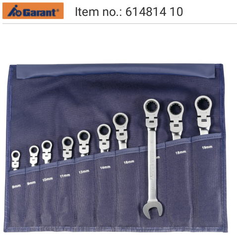 Single open ended / ratchet ring spanner set Garant 614800, 614812, 614816, 614820, 614825, 614810, 614814, 614814, 641830