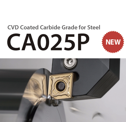 CVD Coated Carbide Grade for Steel CA025P