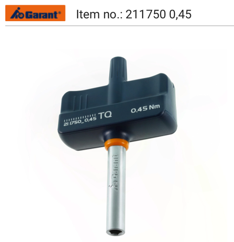 TQ torque screwdriver with T-handle, fixed, automatic triggering