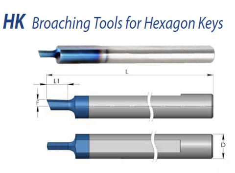 Dao sọc lỗ lục giác - HK Broaching Tools for Hexagon Keys