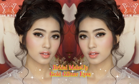❤️🌸 BRIDAL GOLDEN MAKEUP LOOK 🌸❤️
