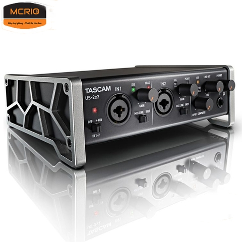 Sound card thu âm Tascam(US 2x2)