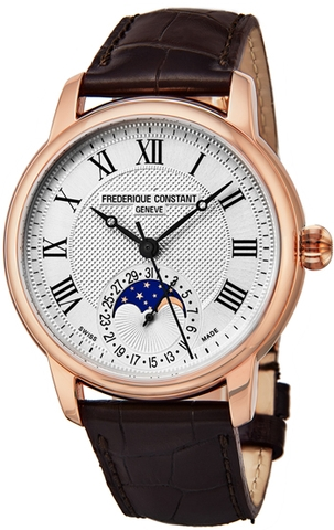 Đồng Hồ Nam Frederique Constant Classics Moonphase Men's Watch Rose Gold FC-715MC4H4