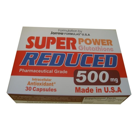 Super Power Glutathione Reduced 500: Khử Độc Gan