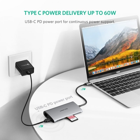 Cáp USB Type C UGREEN Multi Port Adapter 8in1
