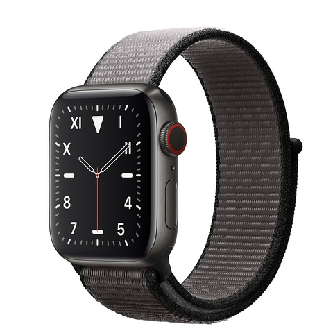 Apple Watch 5 40mm (GPS) Viền Titanium Đen - Dây Đen