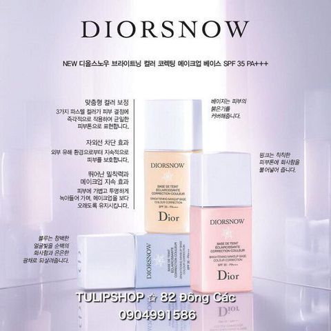 KEM LÓT DIORSNOW WHITE REVEAL MAKEUP BASE