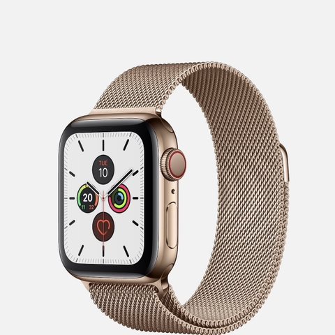 Apple Watch Series 5 Gold Stainless Steel Milanese Loop
