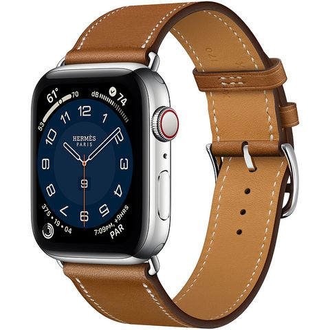 Apple Watch Series 6 Hermès Silver Stainless Steel Case with Single Tour