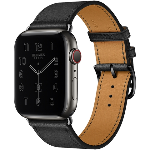 Apple Watch Series 6 Hermès Space Black Stainless Steel Case with Single Tour