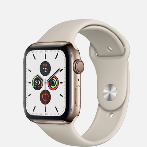 Apple Watch Series 5 Gold Stainless Steel Sport - LikeNew Fullbox 99% (LL/A)