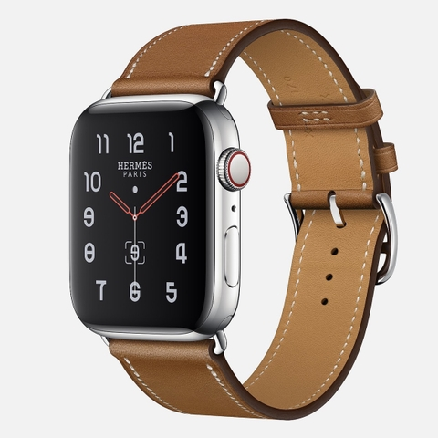 Apple Watch Hermès Series 5 Fauve Barenia Leather Single Tour