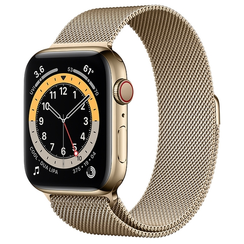 Apple Watch Series 6 Gold Stainless Steel Case with Milanese Loop New Seal