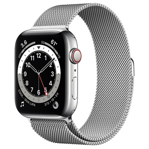 Apple Watch Series 6 Silver Stainless Steel Case with Milanese Loop New Seal