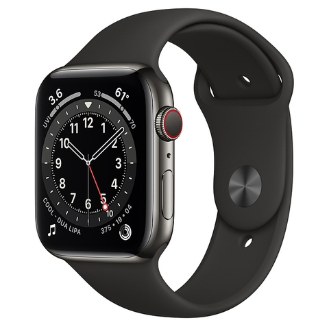 Apple Watch Series 6 Graphite Stainless Steel Case with Sport Band New Seal