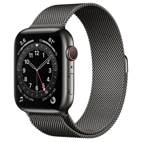 Apple Watch Series 6 Graphite Stainless Steel Case with Milanese Loop New Seal